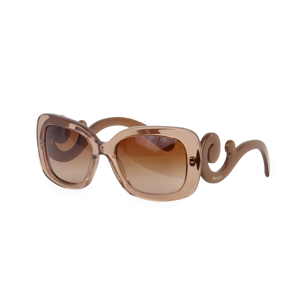 7b59576a826d PRADA Baroque Sunglasses SPR 270 Golden Taupe | Luxity