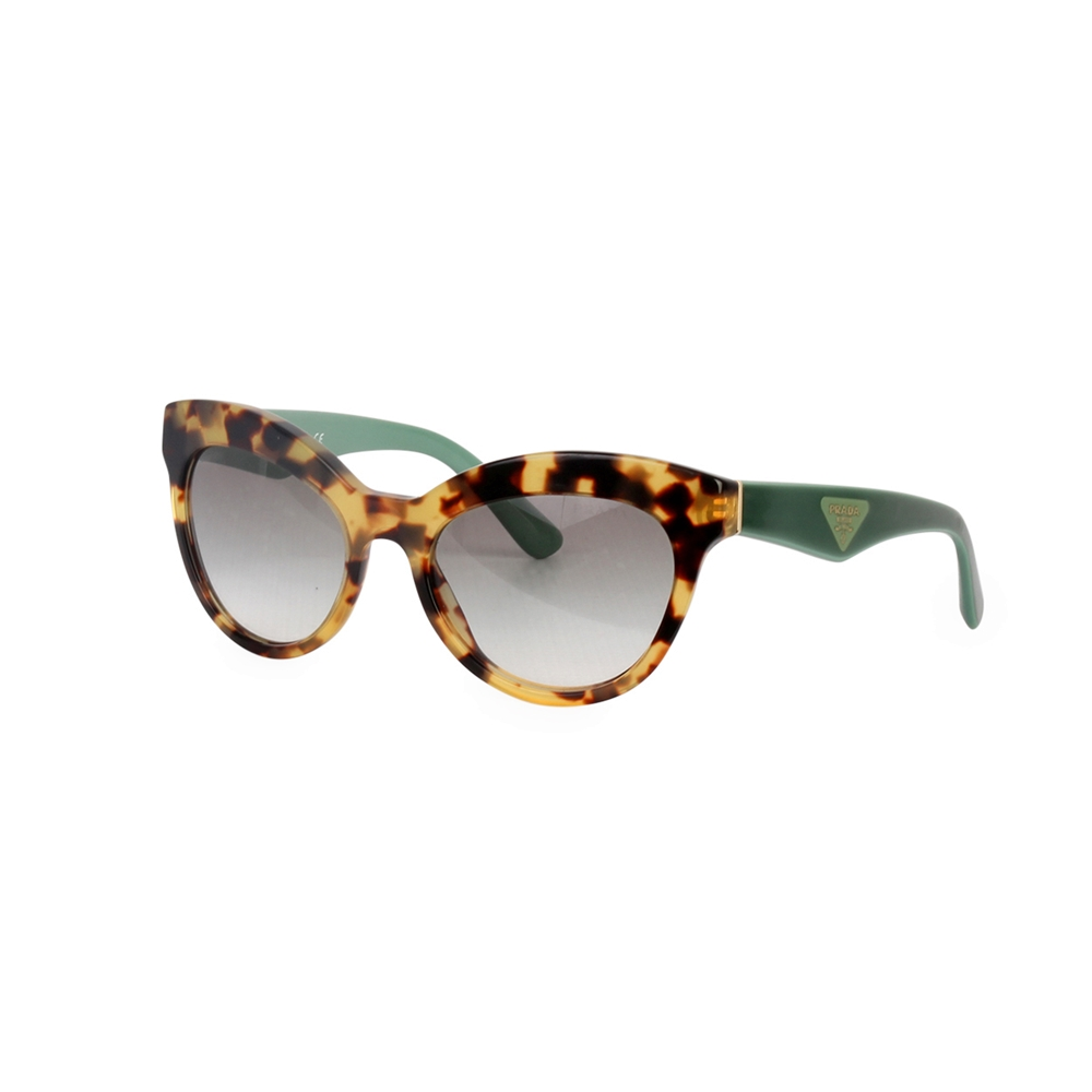82a8882e6 PRADA Havana Cat Eye Sunglasses Tortoise SPR 23Q | Luxity