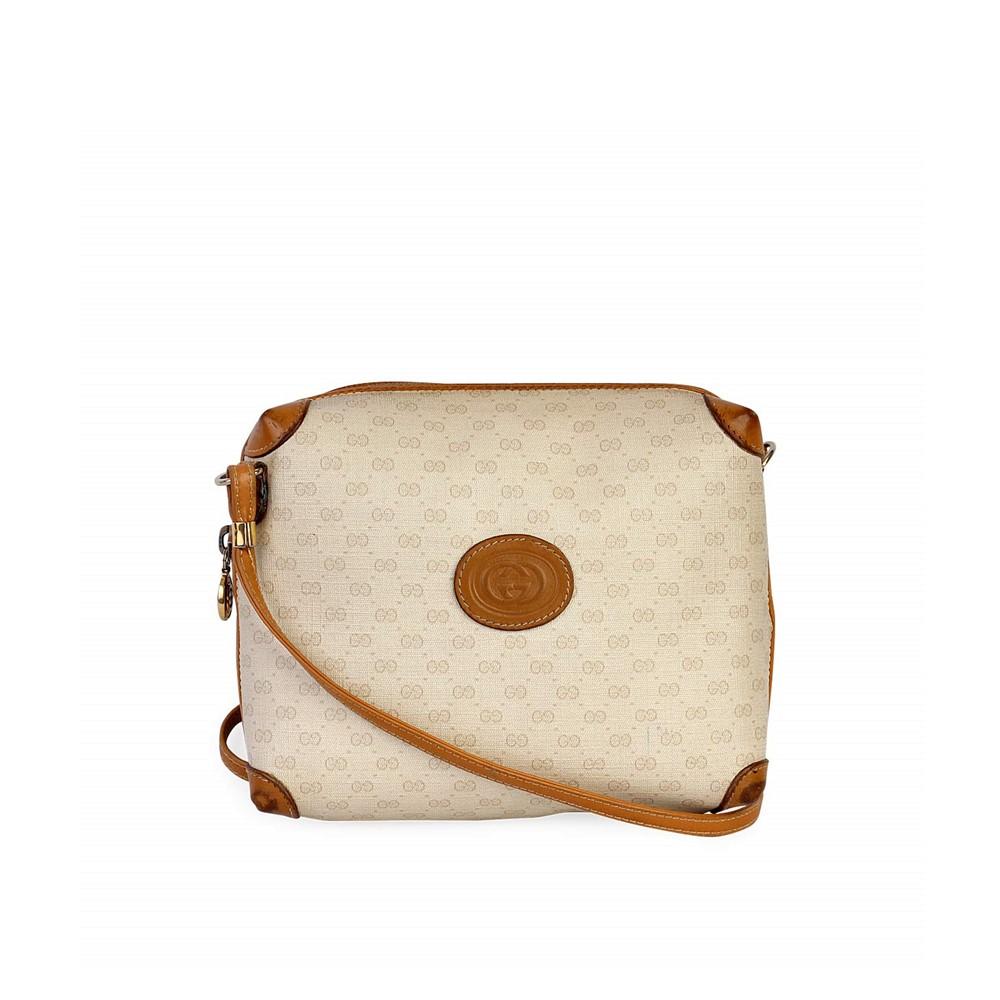ae1a40c7cb GUCCI Vintage GG Logo Crossbody Bag White/Brown