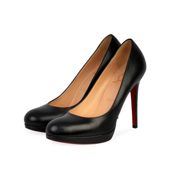 wholesale dealer e3932 1108b CHRISTIAN LOUBOUTIN Leather Simple Platforms Pumps Black - S: 37.5 (4.5)