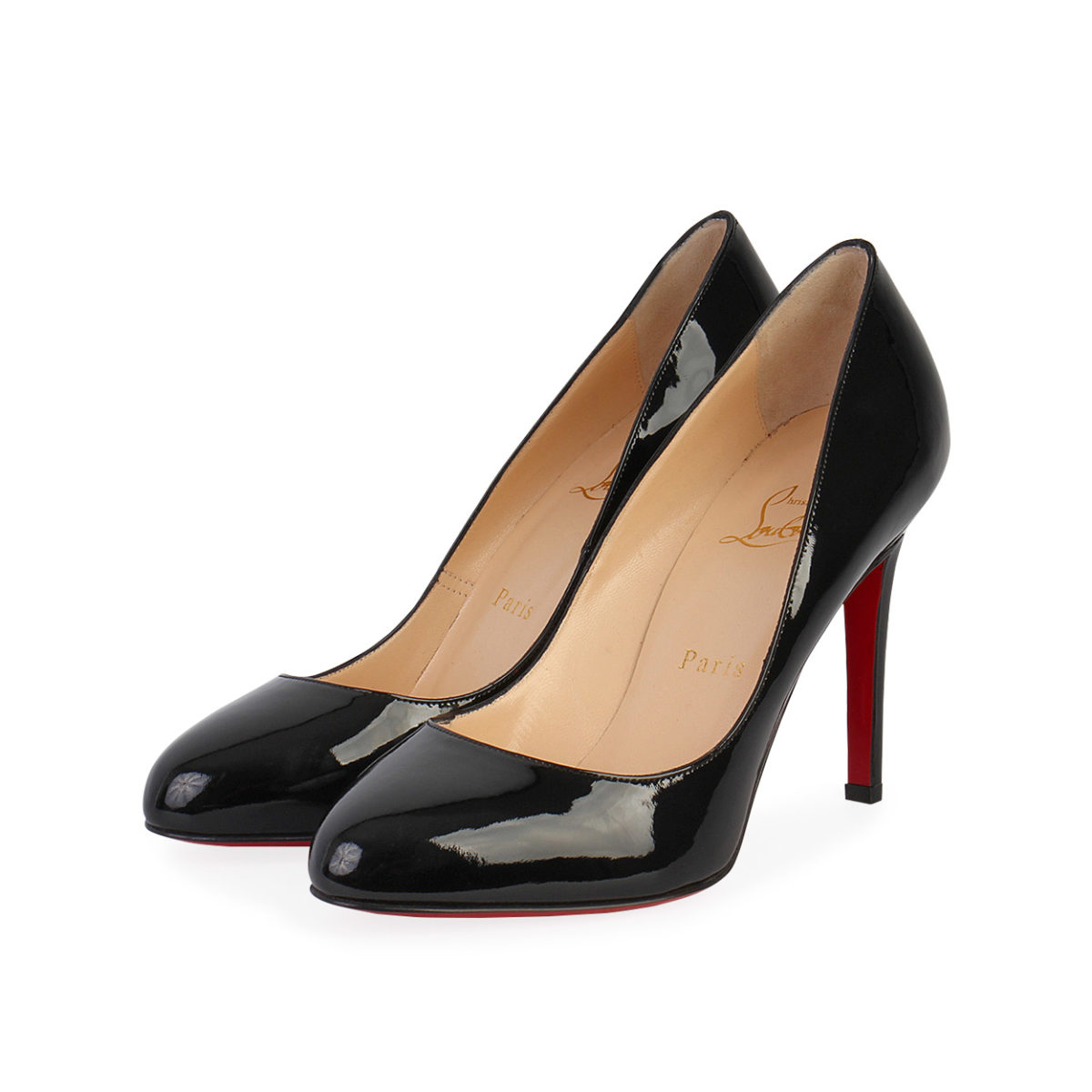 689f6971bf0 CHRISTIAN LOUBOUTIN Patent Leather Simple Pumps Black - S: 37.5 (4.5)