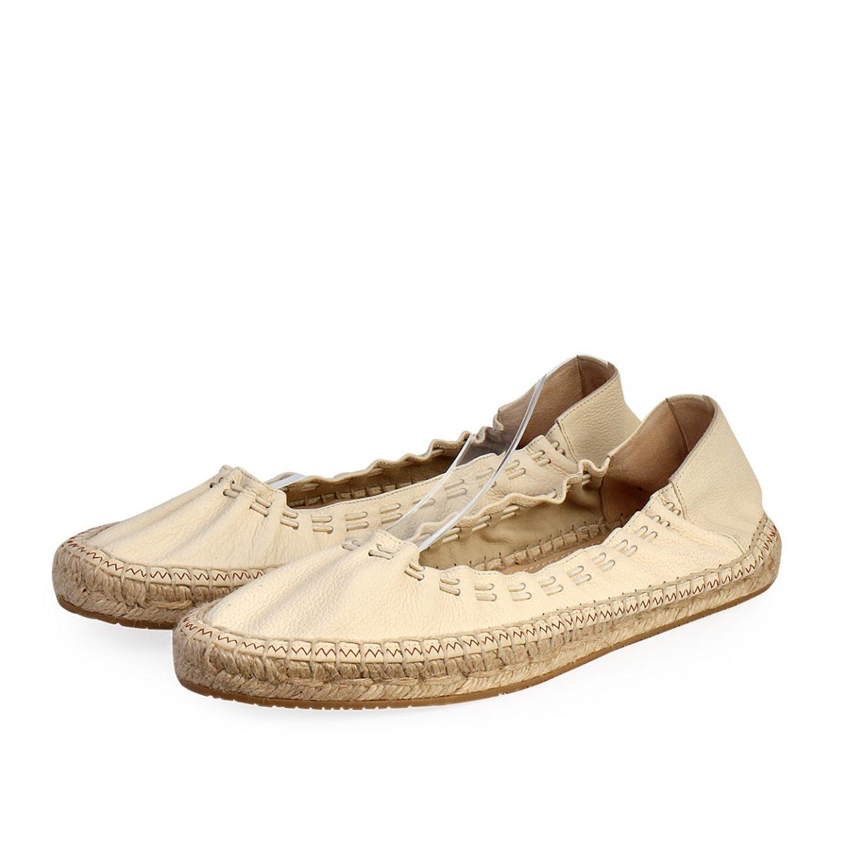 c3c50039cc497 JIMMY CHOO Leather Deena Stretch Espadrilles Cream - S: 39.5 (6 ...