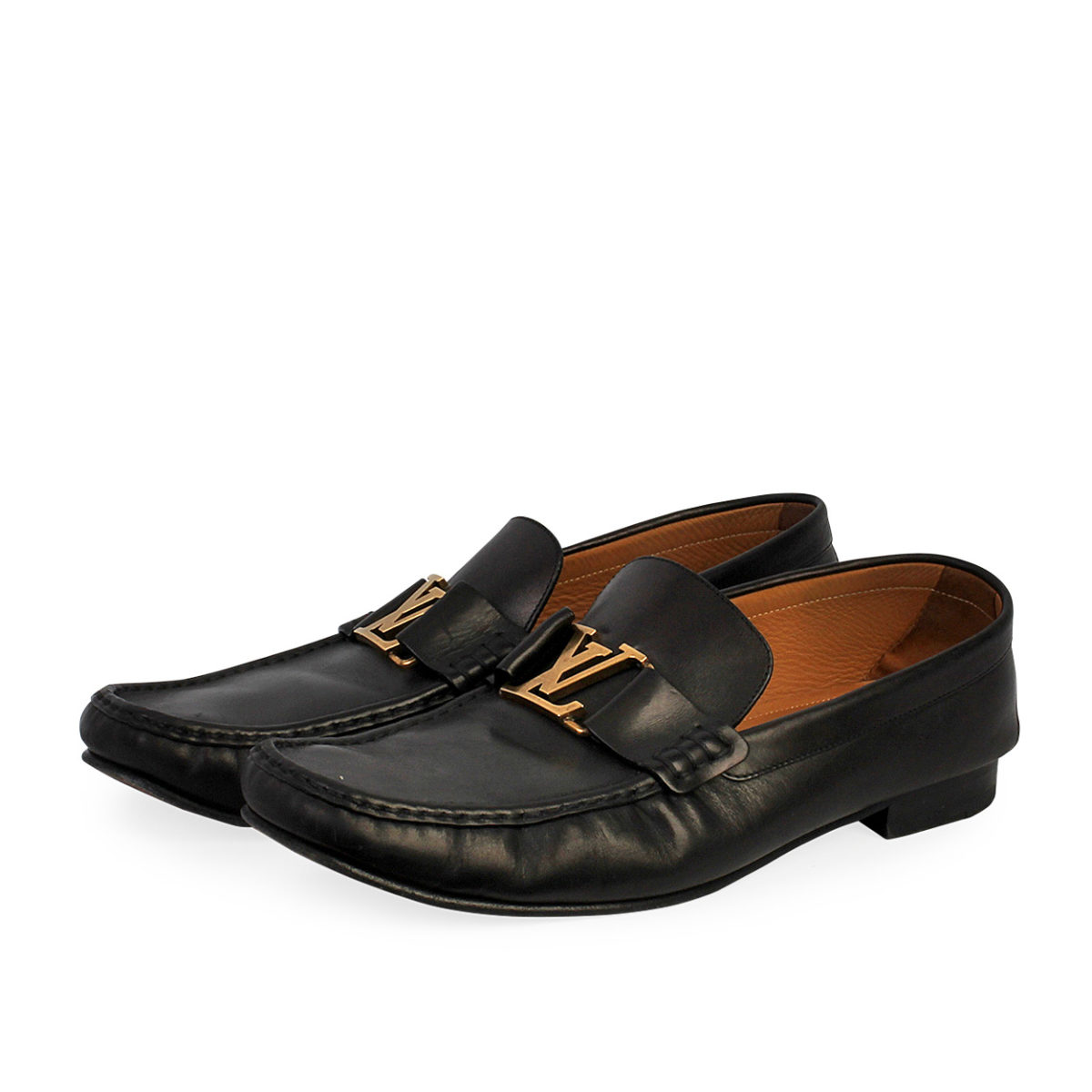 LOUIS VUITTON Leather Monte Carlo Moccasins Black - S: 46 (11)