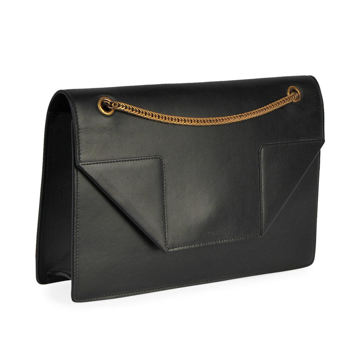 yves saint laurent leather sac betty shoulder bag black luxity