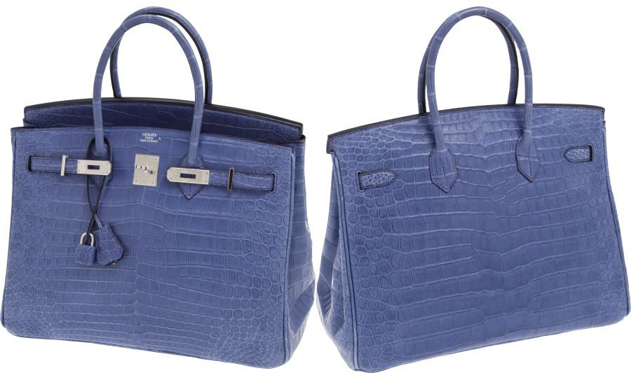 Blue Crocodile Hermès Birkin Handbag