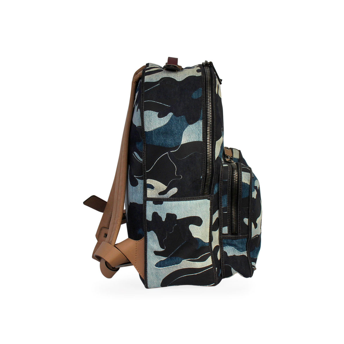 Valentino Camouflage Backpack Blue Luxity