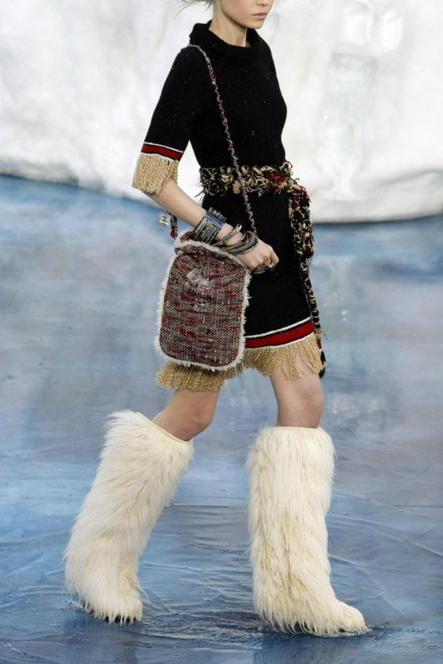 Weird Chanel Fur Boots