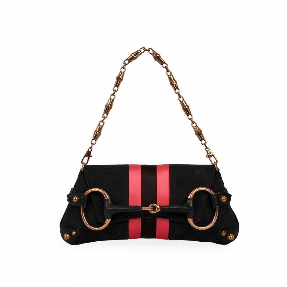GUCCI GG Horsebit Tom Ford Clutch Black/Pink , Limited Edition