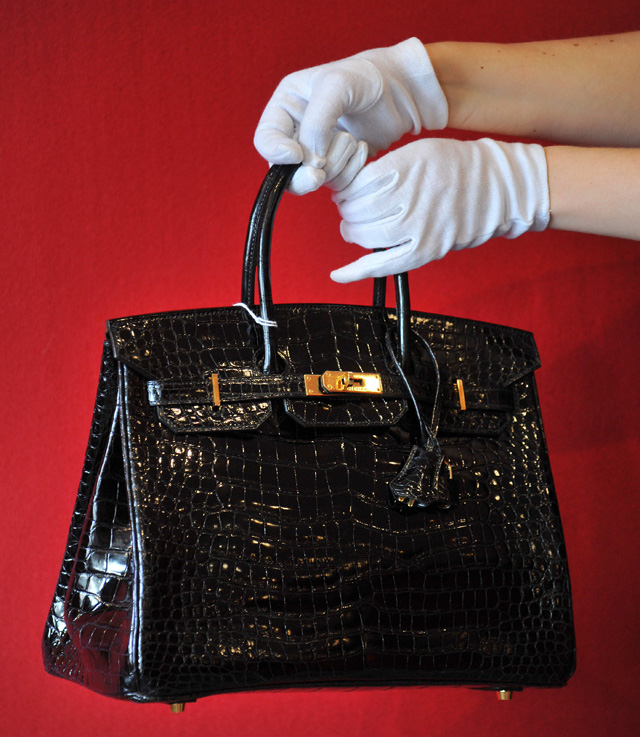 Birkin crocodile leather