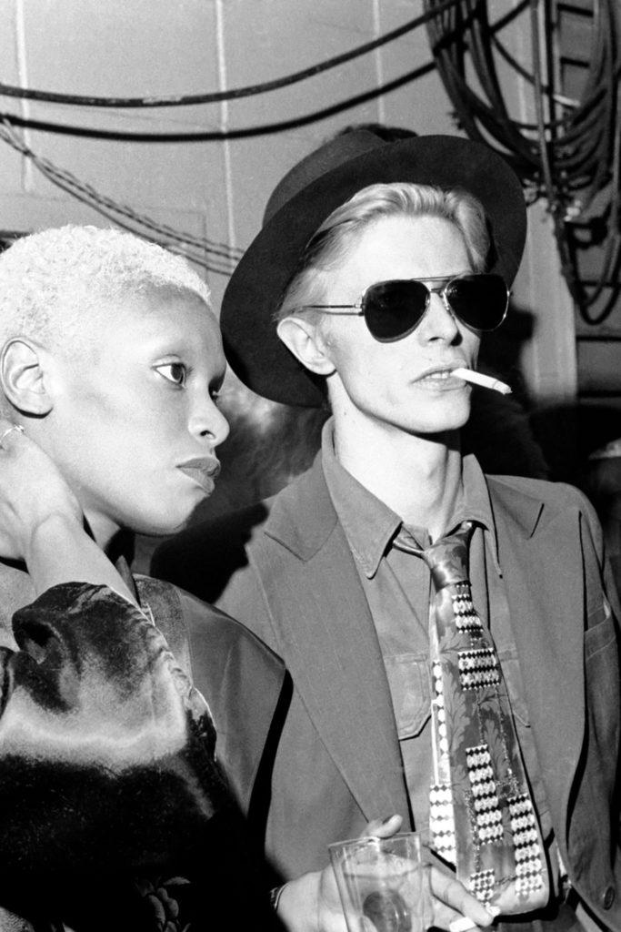 David Bowie wearing Aviators