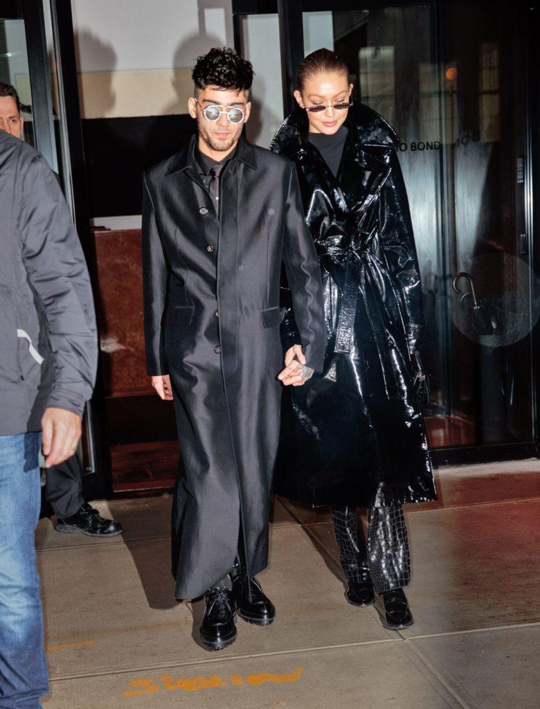 Gigi Hadid and Zayn Malik with Matrix-inspired looks