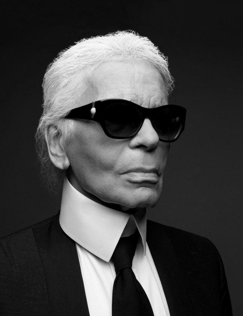 Karl Lagerfeld in Oversized Sunglasses