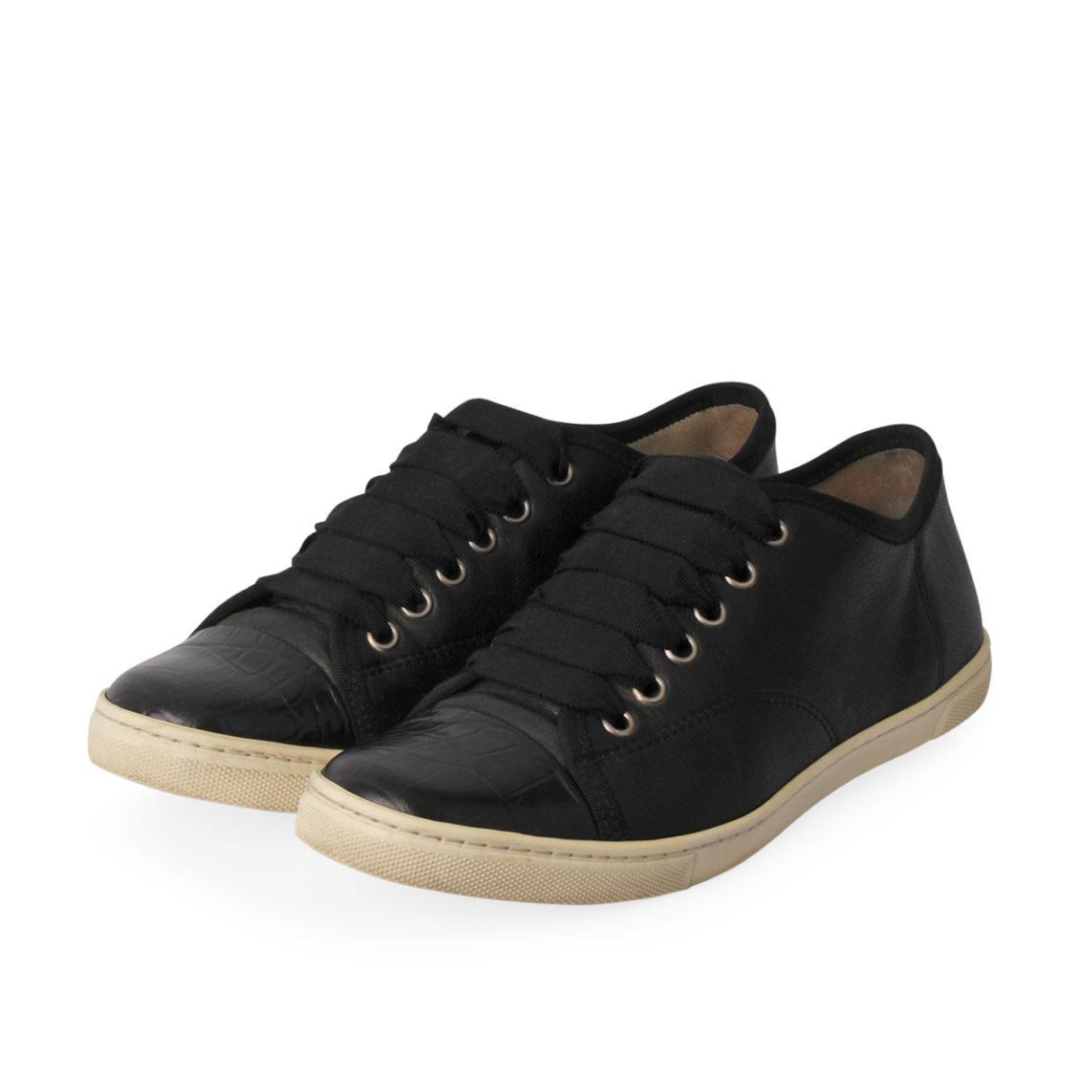 lanvin sneakers black