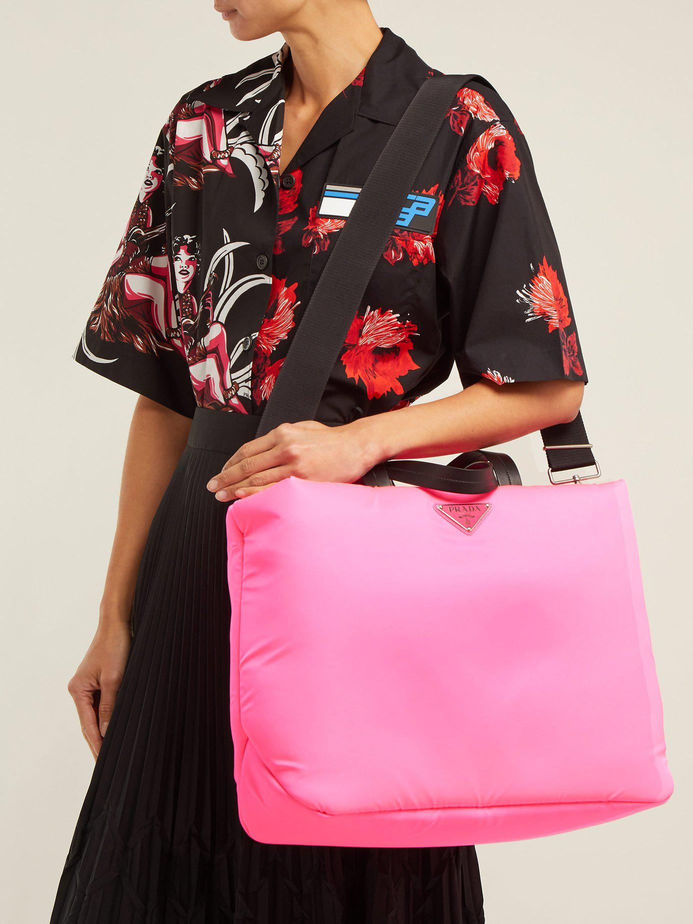 Padded Nylon Prada Handbag