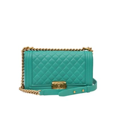 Turquoise Chanel Boy Bag