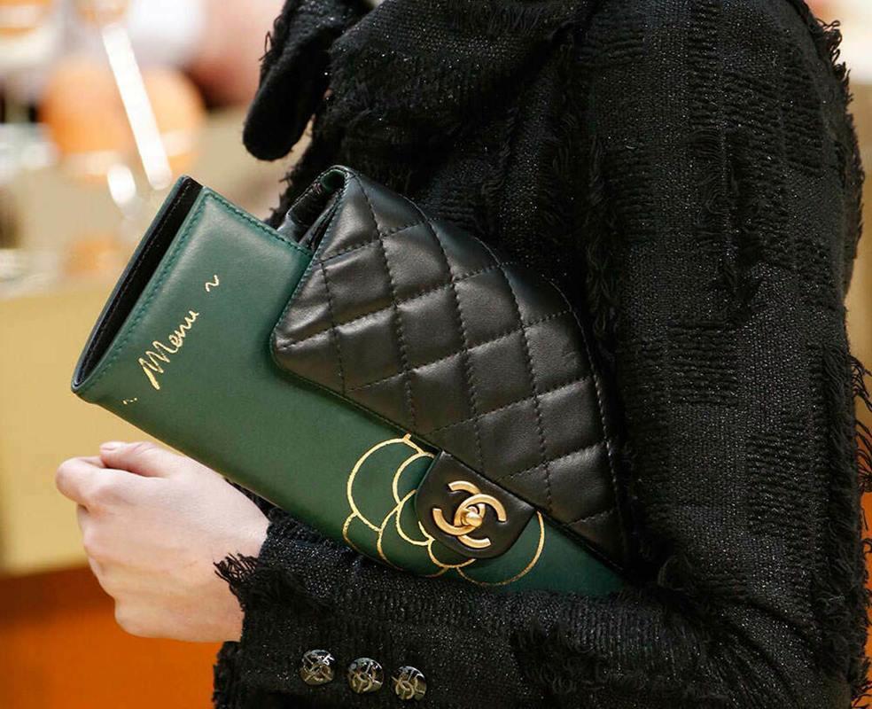 Green Chanel menu bag